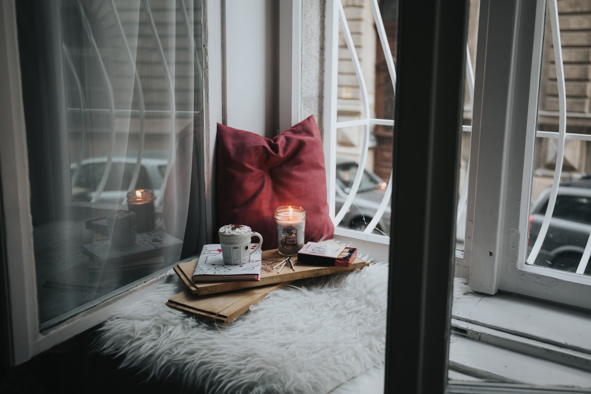 Tranquil set-up for writing your story
